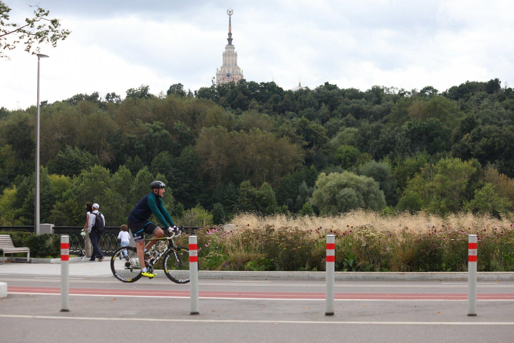 В парках Москвы оборудовано 69 кмвелосипедных дорожек
